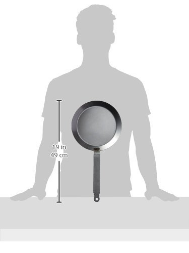 Matfer Bourgeat 062034 Round Crepe Pan, 9 1/2-Inch, Gray