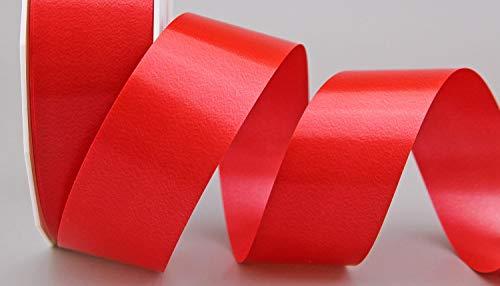Polyband ROT 3 m x 4 cm (0,36€/m) Geschenkband Dekoband 40 mm Glanzband WETTERFEST Schleifenband Kartengestaltung Basteln