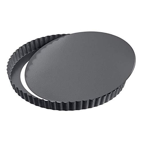 GF - Quicheform mit Hebeboden - Antihaftbeschichtung herausdrückbarer Hebeboden - Obstkuchenform und Backform mit Entfernbarem Antihaftbeschichtung - Schwarz - Ø 24 cm