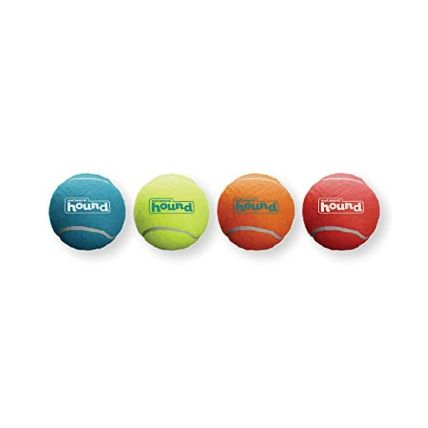 Outward Hound Squeaker Ballz & Tennis Ballz – Squeaking & Fetching Tennis Ball Dog Toys