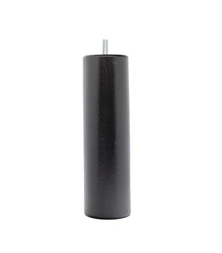 La Fabrique de Pieds AM20170042 Jeu de 4 Pieds de Lit Cylindres Bois Laqué Noir 20 x 6 x 6 cm