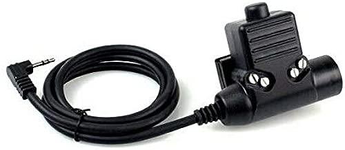 FidgetKute U94 PTT Cable Plug Tactical Gear Talkabout Radio Headset for Motorola Show One Size
