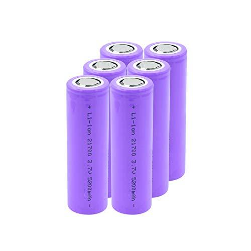 MGLQSB Batería De Iones De Lión De 3.7v 5200mah 21700, CéLula De Iones De Litio Recargable De Alto Drenaje para Antorcha Aspictureshows