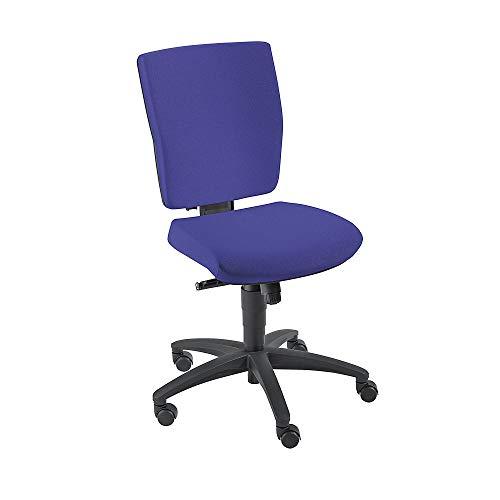 Dauphin Operator-Drehstuhl | Schreibtischstuhl | Bürostuhl, Synchronmechanik Rückenlehnenhöhe 500 mm, blau