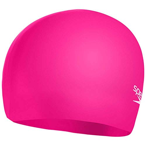 Speedo Plain Moulded Silicone Junior Swimming Caps, Unisex-Youth, Cherry Pink/Blush, One Size