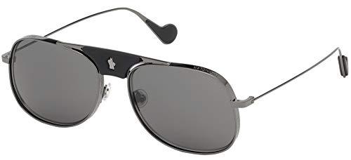 Gafas de sol Moncler ML 0104 08A Brillante Gunmetal/Smoke Lentes