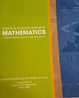 Using & Understanding Mathematics; A Quantitative Reasoning Approach