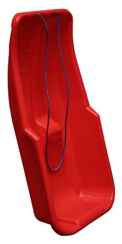 Red Plastic Snow Sled Sledge with Rope Handle | Toboggon
