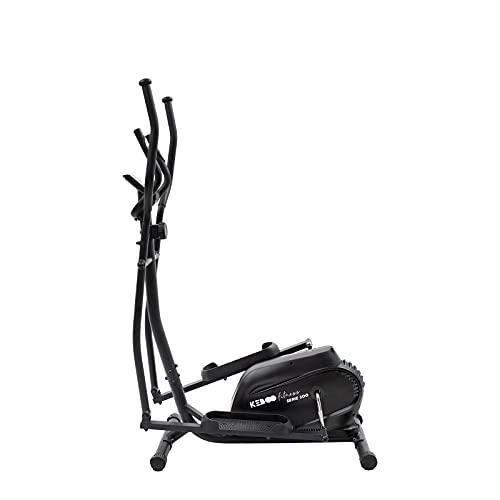 Bicicleta Elíptica Estática Keboo Serie 300 con Volante de Inercia de 3 kg Pulsómetro de Manillar y Pantalla LCD