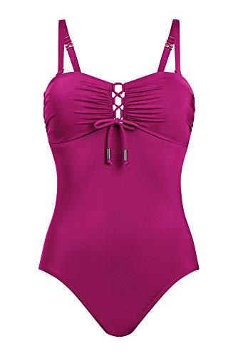 Amoena Damen Maldives Einteiliger Badeanzug, violett, 42 DE/C