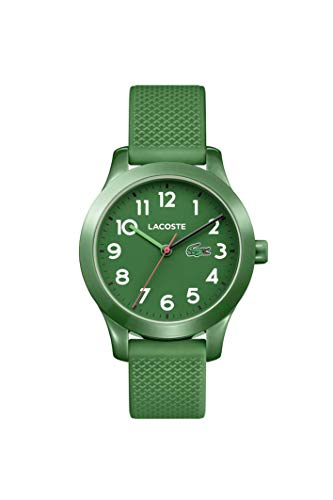 Lacoste Kids' TR90 Quartz Watch with Rubber Strap, Green, 14 (Model: 2030001)