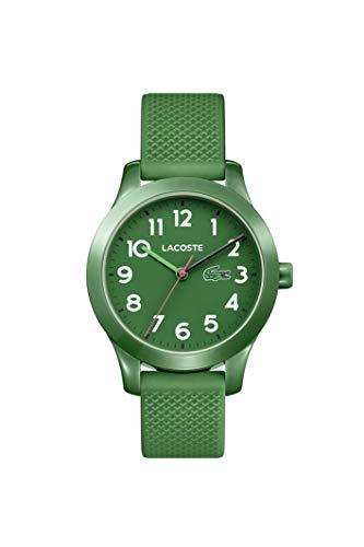 Lacoste Unisex-Kinder Datum klassisch Quarz Uhr mit Silikon Armband 2030001