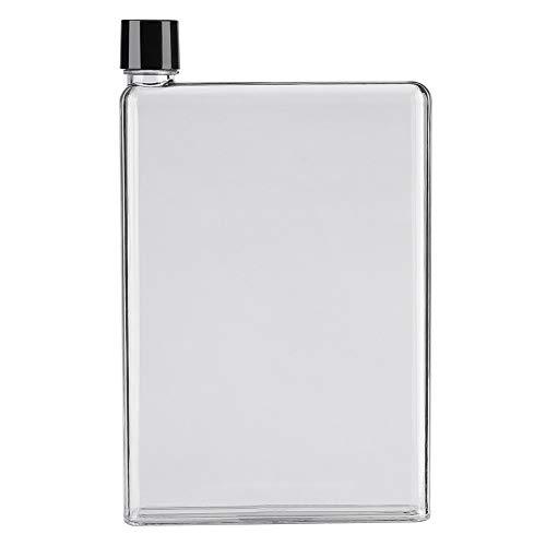 750ml A5 lekvrij plat sap containers, slank water flessen, plastic transparante draagbare fles voor binnen en buiten activiteiten Kleur: wit
