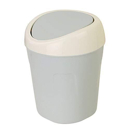 WWWWW Afvalemmer van kunststof voor op het bureau voor het scheiden van afval, kantoor, badkamer, vuilnisbak, tafelvuilnisemmer