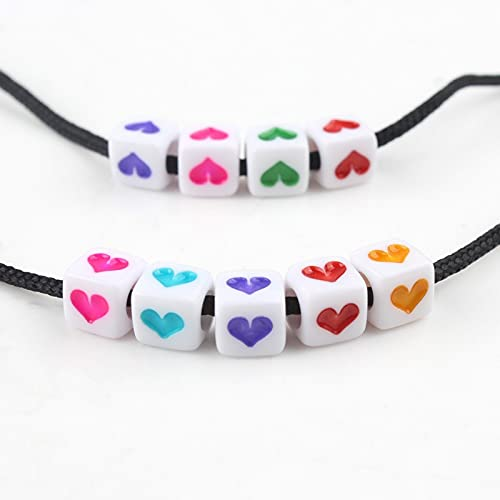 MURUI QZX1 200 unids Carta Rusa Mixta Beads Acrílico Cubo Cuadrado Cuentas de Alfabeto para joyería Pulsera DIY a Mano Yc0419 (Color : C)