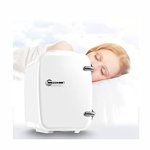 Mini refrigerador Frigorífico de 4 litros con función de enfriamiento y calefacción 12 voltios en el Encendedor de Cigarrillos y Toma de 230 voltios, para automóviles, oficinas y dormitorios, Blanco