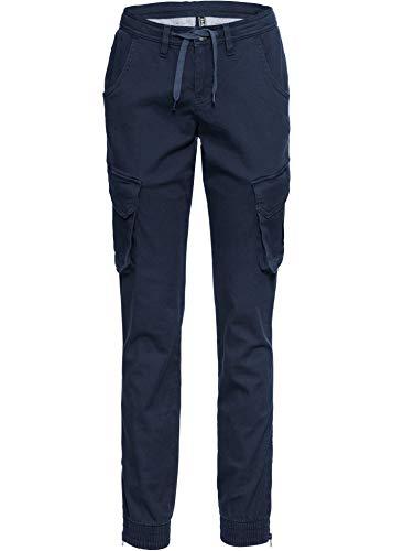 bonprix Coole Hose mit elastischem Beinabschluss dunkelblau lang 38 für Damen