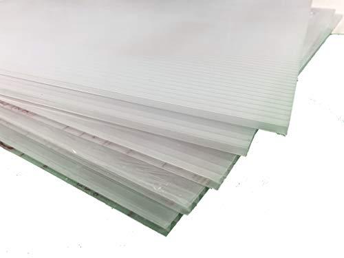 IRONLUX Pack de 10 Placas de Policarbonato Celular Compacto para Falso Techo, Transparente, 6 mm, 60x60