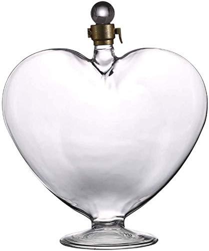 Décontractée Decanter en Forme De Coeur 1000ml Distributeur d'eau Distributeur d'eau Verre Verre en Cristal sans Plomb À La Main MUMUJIN (Color : Default)
