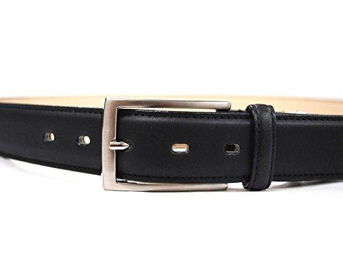 『牛革 ビジネスベルト 長さ調節可能レザーベルト 30[日本製] - 黒 Mサイズ』の3枚目の画像