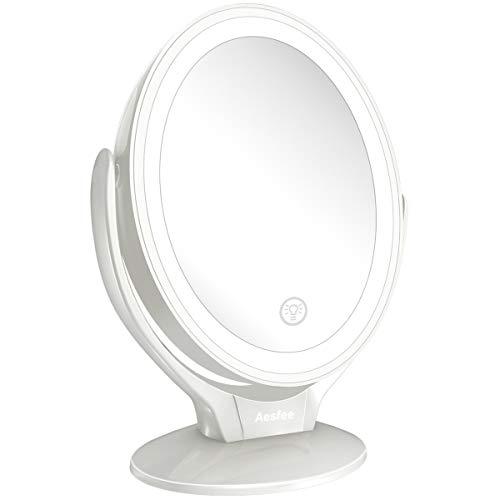 specchio trucco 7x Aesfee Specchio da Trucco con Luci LED
