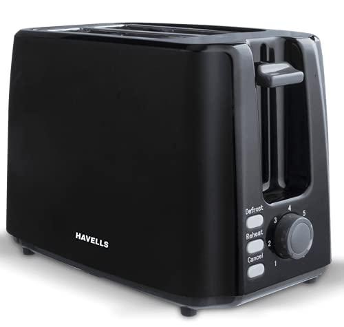 Havells Crisp Plus 750-Watt Pop-up Toaster (Black)