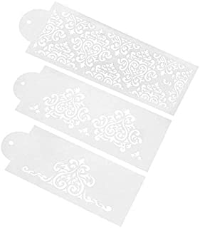 3 pcs Cake Cookie Fondant Side Baking Stencil Wedding Decor Mold Tool