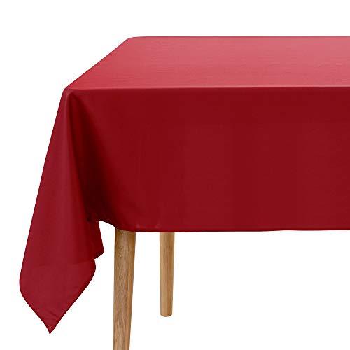 UMI. by Amazon - Mantel Mesa Comedor Impermeable Manteles para Restaurantes Comedor Cocina 178 x 229 cm Rojo