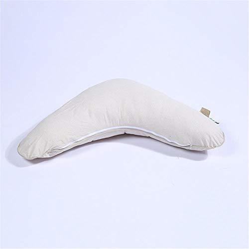La almohadilla para el cuidado del bebé es una almohada 100% algodón extraíble y lavable para madre e hijo rellena con fibra de poliéster-de color crema
