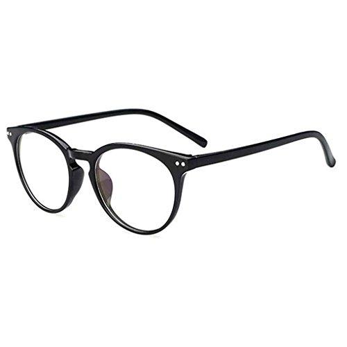 Republe Unisex Retro rotonda lenti trasparenti degli occhiali di vetro delle donne degli uomini UV400 pianura protezione Eyewear