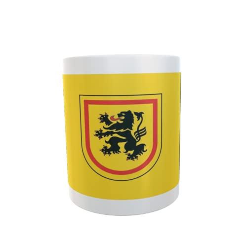 U24 Tasse Kaffeebecher Mug Cup Flagge Landkreis Meißen