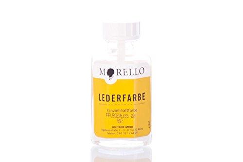 Morello Lederfarbe für Glattleder 40ml (40ml, Pflegeweiß)