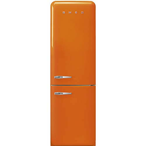 Réfrigérateur combiné Smeg FAB32ROR3 - Réfrigérateur congélateur bas - 331 litres - Réfrigerateur/congel : Froid brassé / No Frost - Dégivrage automatique - Orange - Classe A+++ / Pose libre