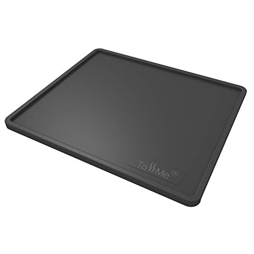 ToSSme Espresso Tamping Mat I 6X7 Inch Food Safe Silicone Coffee Tamper Mat I Portafilter Mat For Baristas I Coffee Tamp Mat I Waterproof, Heat Resistant Tamping Pad and Tamp Station TM-CO05 Black