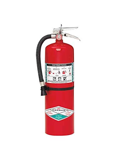 Amerex(R) 11 Pound Halotron I Fire Extinguisher With Brass, Chrome Plated Valve And Wall Bracket Iowa