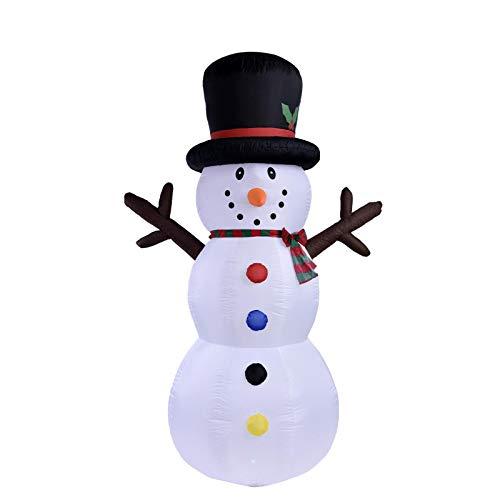 Findema Juldekoration, uppblåsbar jultomte söta rensläde utomhusdekoration med LED-lampor för jul