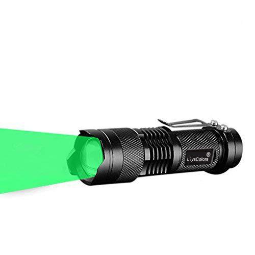Llys Colors Single 1 Modus Zoomable LED 50 Yard GRÜN-LICHT LED Taschenlampe (GRÜN)