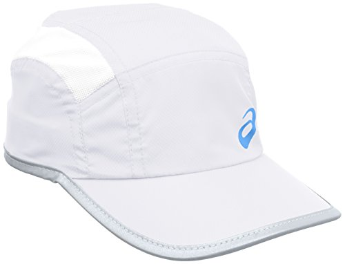 ASICS 123005 - Gorra de Running Unisex, Color Blanco, 58 cm