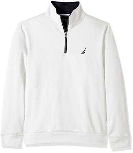 Nautica Men's Solid 1/4 Zip Fleece Sweatshirt, Marshmallow, X-Large