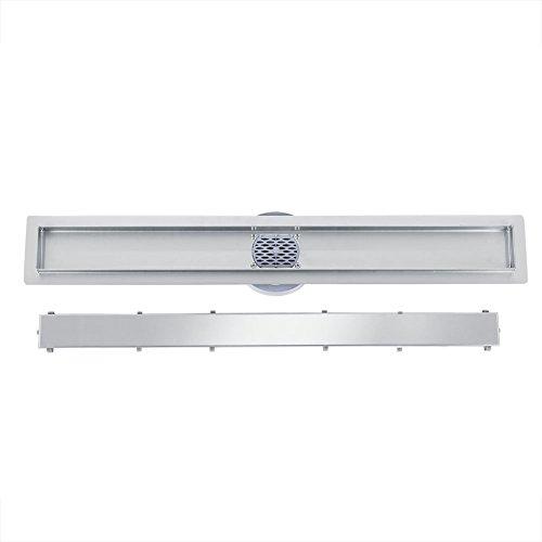 360 Grad-Rotation Bodenablauf Edelstahl Duschablaufrinne, Duschablauf für Badzimmer Küche, Größe: 60cm - 100cm (90cm)