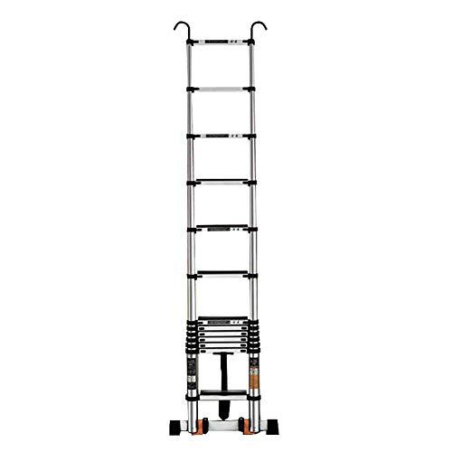 DXXWANG Escalera telescópica, portátil extensible con ganc