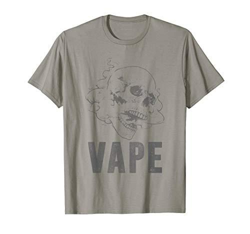 Vape Skull Tshirt for Vaping Lovers & Vaporizer Fans