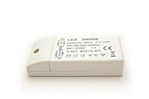 Mini LED Transformator 12V DC 1A 12W elektronischer Trafo Treiber Netzteil LEDs