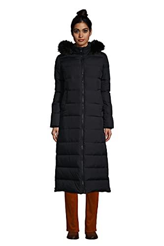Lands' End Womens Maxi Down Coat Black Regular Large