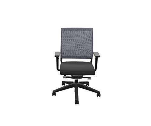 Sedus Netwin nw-100 Bürostuhl mit Netzrücken, ideal für das Home-Office, 5 Jahre Garantie, schwarz