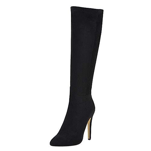 Femme Mode Knee High Boot Talons Aiguilles Zipper...