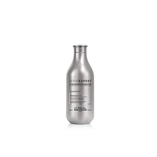 L'Oréal Professionnel Paris Serie Expert Silver Shampoo, Neutralisiert Gelb- oder Kupferstich & verleiht Glanz, mattierendes Haarshampoo, Haarpflege für hellblondes, weißes & graues Haar, 300 ml