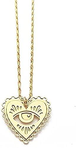 NC128 Collar de corazón Sagrado de Color Dorado para Mujer, Collares Pendientes para Mujer, Accesorios de joyería de Fiesta, Collar Llamativo