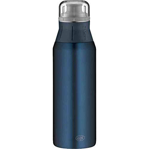alfi elementBottle 900ml, Edelstahlflasche Pure blau, dicht, spülmaschinenfest, BPA-Frei, Wasserflasche 5357.215.090, Trinkflasche Edelstahl für Kinder, Schule, Sport, to Go, Flasche für Schorle