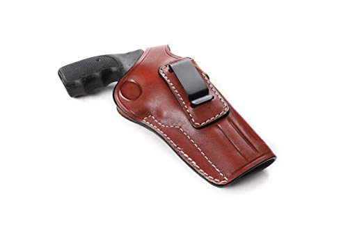 Pusat Holster Revolver 38 Special-357 Magnum 2 and 4 inch Concealed Carry Leather IWB Holster for EAA Windicator Draw Right Hand Colors Black-Brown (Brown, 4 BBL)